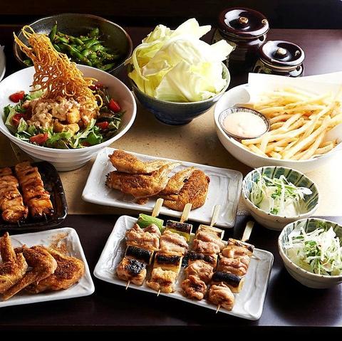 渋谷の焼き鳥が美味しい居酒屋[とりいちず]の女子会コース